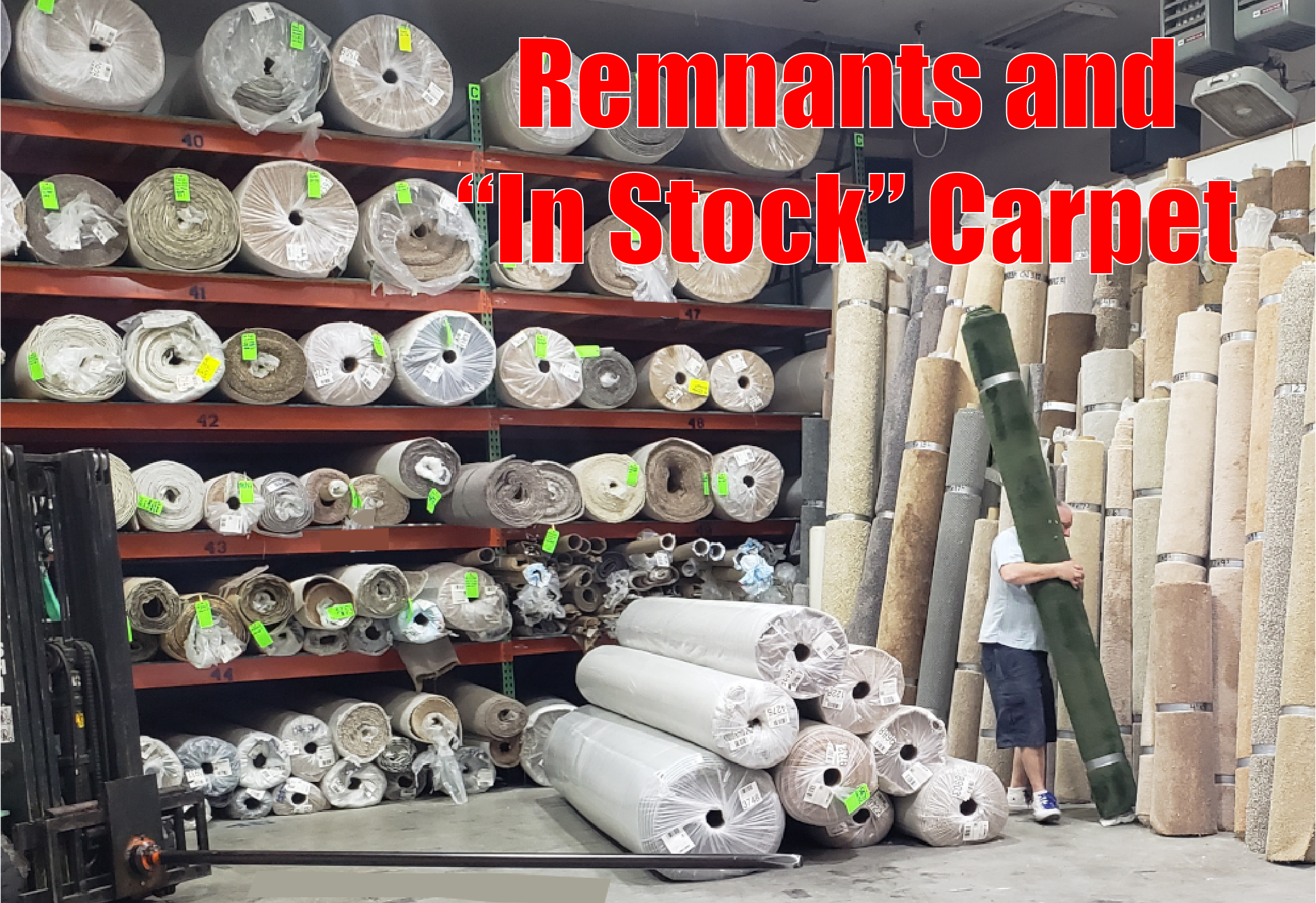 carpet remnants, in stock carpet, carpet for quick installation, carpet only